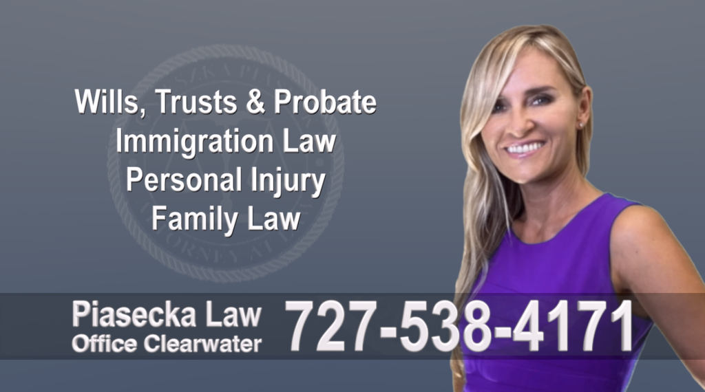Tampa, Polish, Lawyer, Attorney, Florida, Wills, Trusts, Probate, Immigration, Personal Injury, Family Law, Agnieszka, Piasecka, Aga, Free, Consultation, Recommended