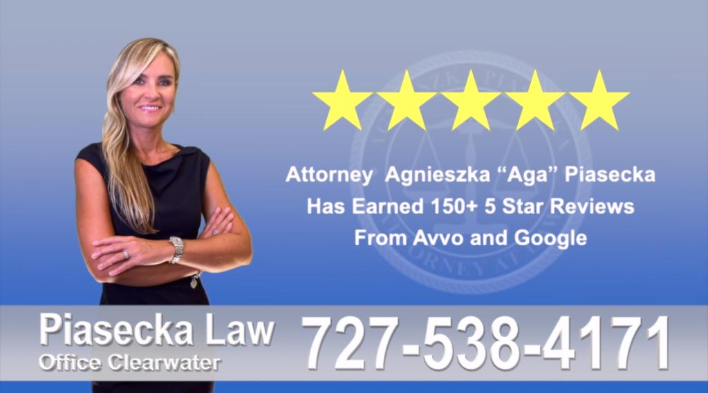 Agnieszka, Aga, Piasecka, Client, reviews, avvo google, five star, 5-star, superb best attorney