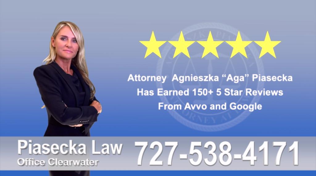 Agnieszka, Aga, Piasecka, Client, reviews, avvo, google five star, 5-star, superb, best attorney
