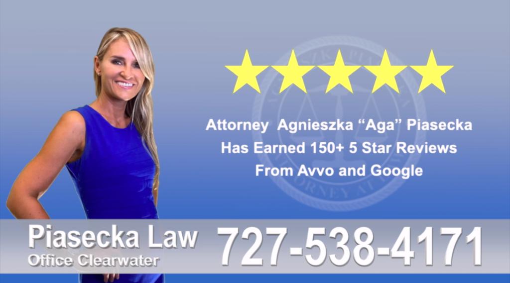 Tampa Polish Lawyer Attorney Agnieszka, Aga, Piasecka, Client, reviews, avvo, google reviews, five star, 5-star, superb, best attorney