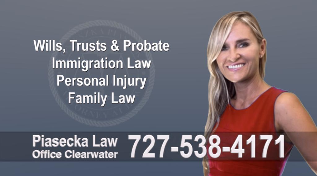 Tampa, Polish, Lawyer, Attorney, Florida, Wills, Trusts, Probate, Immigration, Personal Injury, Family Law, Agnieszka, Piasecka, Aga, Free, Consultation
