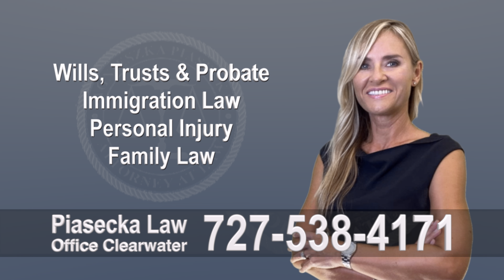 Tampa, Polish, Lawyer, Attorney, Florida, Wills, Trusts, Probate, Immigration, Personal Injury, Family Law, Agnieszka, Piasecka, Aga, Free, Consultation, Accidents
