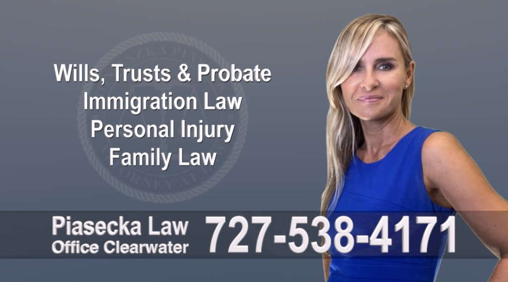Tampa, Polish, Lawyer, Attorney, Florida, Wills, Trusts, Probate, Immigration, Personal Injury, Family Law, Agnieszka, Piasecka, Aga, Free, Consultation, Accidents,