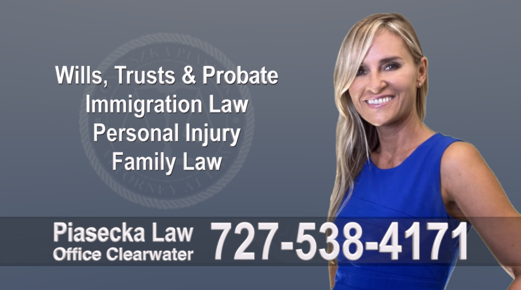 Tampa, Polish, Lawyer, Attorney, Florida, Wills, Trusts, Probate, Immigration, Personal Injury, Family Law, Agnieszka, Piasecka, Aga, Free, Consultation, Accidents, Automoto