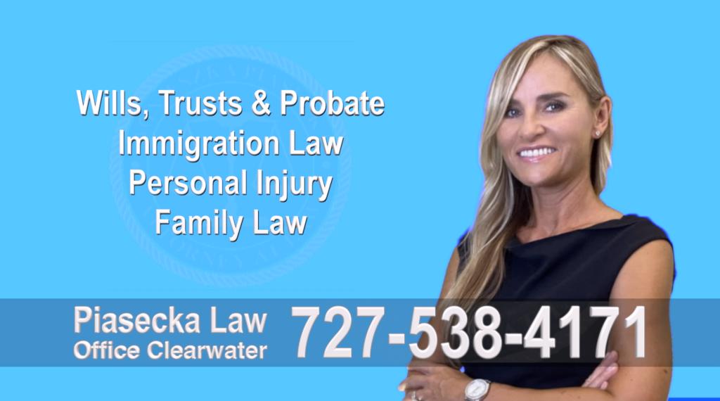 Tampa, Polish, Lawyer, Attorney, Florida, Wills, Trusts, Probate, Immigration, Personal Injury, Family Law, Agnieszka, Piasecka, Aga, Free Consultation, Accidents, Polski,