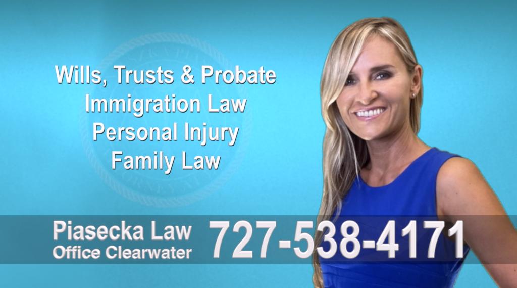 Tampa, Polish, Lawyer, Attorney, Florida, Wills, Trusts, Probate, Immigration, Personal Injury, Family Law, Agnieszka, Piasecka, Aga, Free, Consultation, Accidents, Polski, Polish speaking