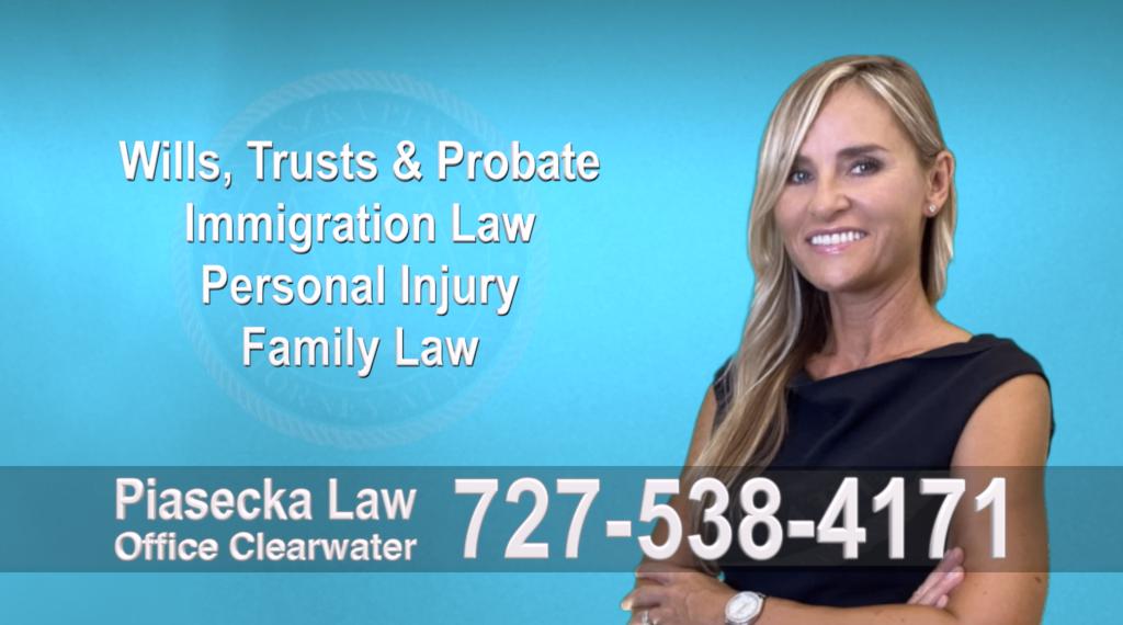 Tampa, Polish, Lawyer, Attorney, Florida, Wills, Trusts, Probate, Immigration, Personal Injury, Family Law, Agnieszka, Piasecka, Aga, Free, Consultation, Accidents, Polski, Polskojęzyczny