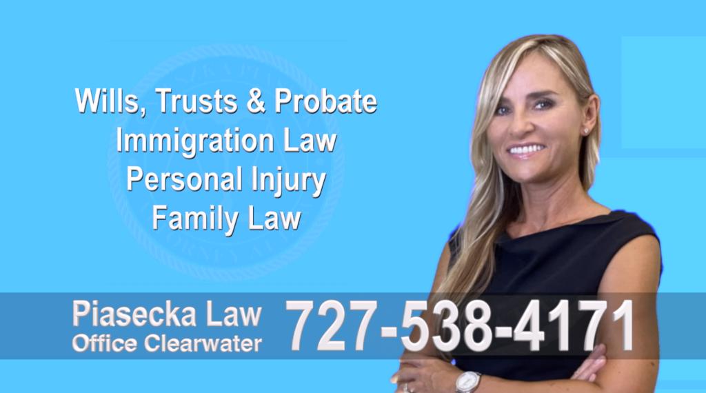 Tampa, Polish, Lawyer, Attorney, Florida, Wills, Trusts, Probate, Immigration, Personal Injury, Family Law, Agnieszka, Piasecka, Aga, Free, Consultation, Accidents, Polski, Wypadki