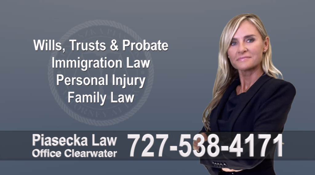 Tampa, Polish, Lawyer, Attorney, Florida, Wills, Trusts, Probate, Immigration, Personal Injury, Family Law, Agnieszka, Piasecka, Aga, Free, Consultation, Autoaccident