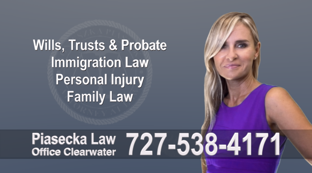 Tampa, Polish, Lawyer, Attorney, Florida, Wills, Trusts, Probate, Immigration, Personal Injury, Family Law, Agnieszka, Piasecka, Aga, Free, Consultation, Best