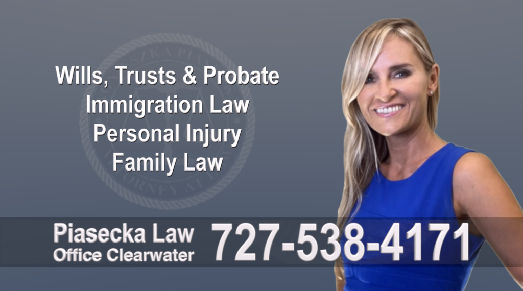 Tampa, Polish, Lawyer, Attorney, Florida, Wills, Trusts, Probate, Immigration, Personal Injury, Family Law, Agnieszka, Piasecka, Aga, Free, Consultation, Flat fees