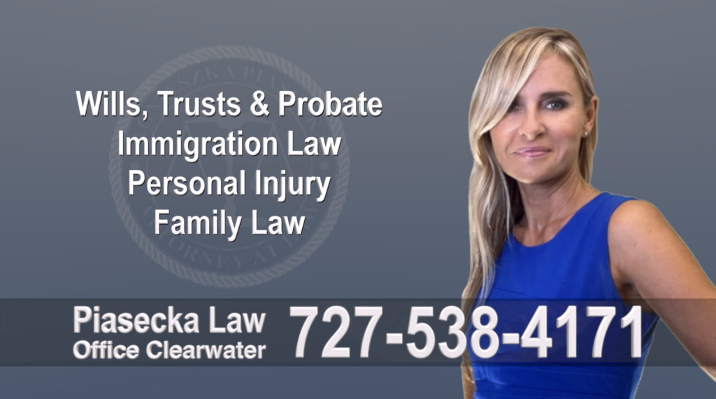 Tampa, Polish, Lawyer, Attorney, Florida, Wills, Trusts, Probate, Immigration, Personal Injury, Family Law, Agnieszka, Piasecka, Aga, Free, Consultation, flat fee